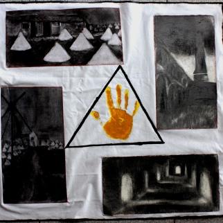 industrial archeology - charcoal/acrylic